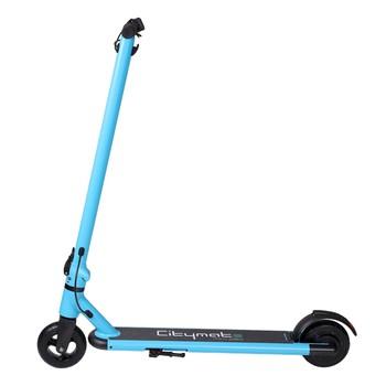 Citymate - Citymate Mini 250Watt Elektrikli Scooter cocuklar icin 5.5 İnch Dolgu Teker Mavi