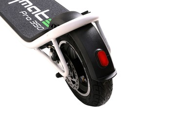 Citymate Pro 350Watt Elektrikli Scooter 10 inch Şişme Teker Beyaz - Thumbnail