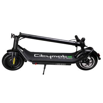 Citymate Pro 350Watt Elektrikli Scooter 10 İnch Şişme Teker Siyah - Thumbnail