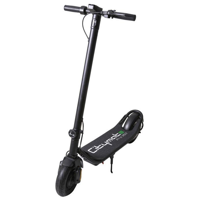 Citymate Pro 350Watt Elektrikli Scooter 10 İnch Şişme Teker Siyah