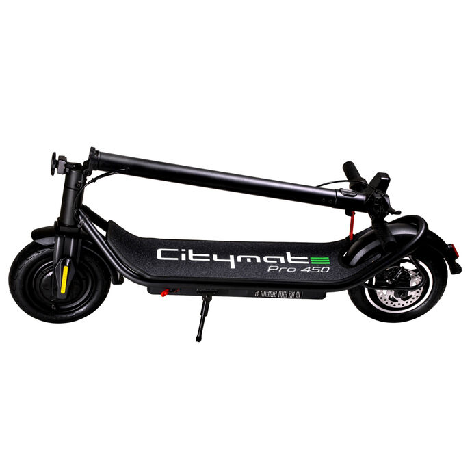 Citymate Pro 450 Watt Elektrikli Scooter 10 inch Şişme Teker Bluetooth Siyah