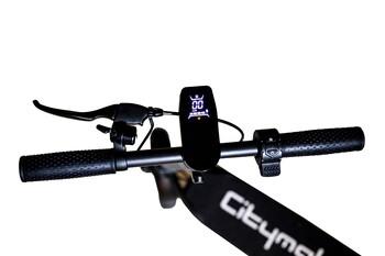 Citymate Pro 450 Watt Elektrikli Scooter 10 inch Şişme Teker Bluetooth Siyah - Thumbnail