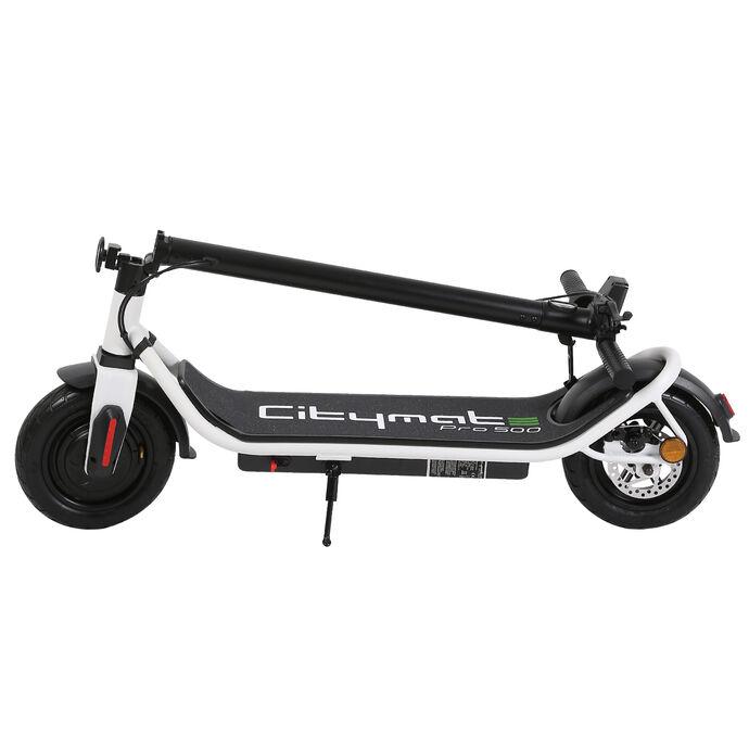 Citymate Pro 500 Watt Elektrikli Scooter 10 inch Şişme Teker Bluetooth Beyaz