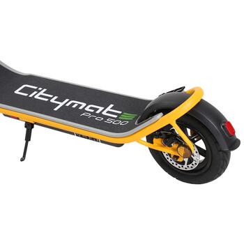 Citymate Pro 500 Watt Elektrikli Scooter 10 inch Şişme Teker Bluetooth Sarı - Thumbnail