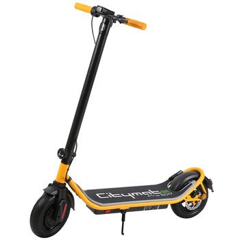 Citymate - Citymate Pro 500 Watt Elektrikli Scooter 10 inch Şişme Teker Bluetooth Sarı