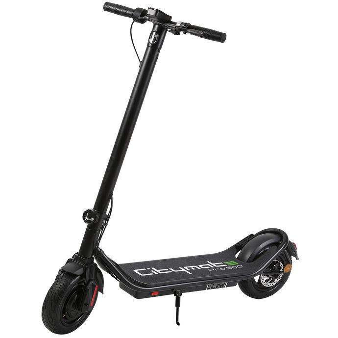 Citymate Pro 500 Watt Elektrikli Scooter 10 inch Şişme Teker Bluetooth Siyah