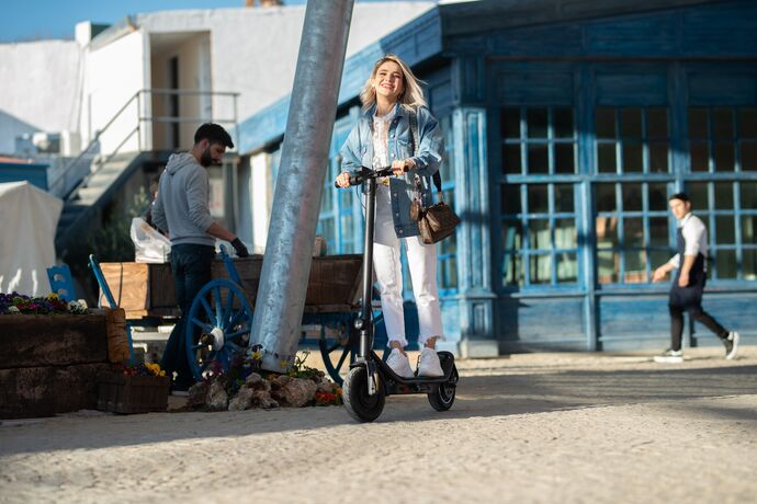 Citymate Pro 500 Watt Elektrikli Scooter 10 inch Şişme Teker Bluetooth Yesil