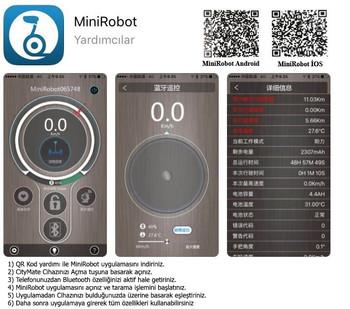 Citymate Pro Elektrikli Kaykay Hoverboard Bluetooth Beyaz - Thumbnail