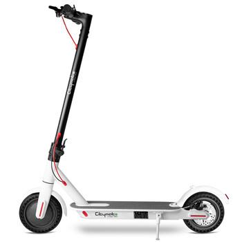 Citymate Urban 350Watt Elektrikli Scooter 8.5 inch Dolgu Teker Beyaz - Thumbnail