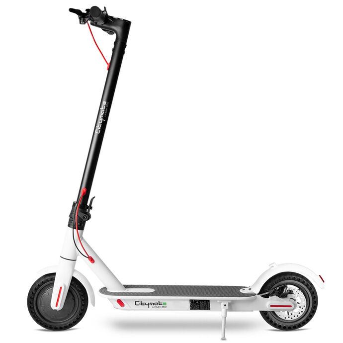 Citymate Urban 350Watt Elektrikli Scooter 8.5 inch Dolgu Teker Beyaz