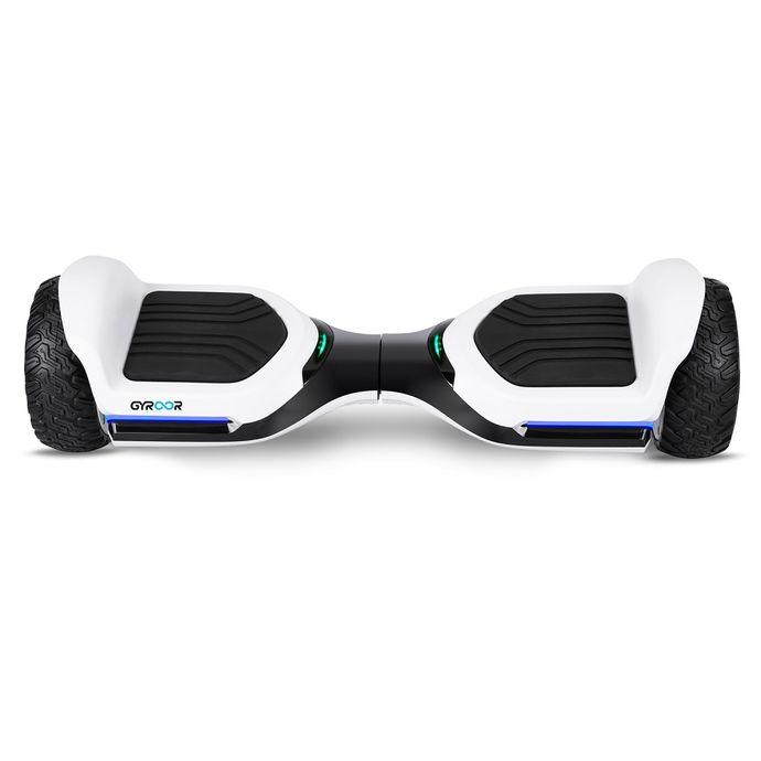 Gyroor Swift G1 Elektrikli Kaykay Off Road Hoverboard 6.5 inch Ledli Teker Beyaz