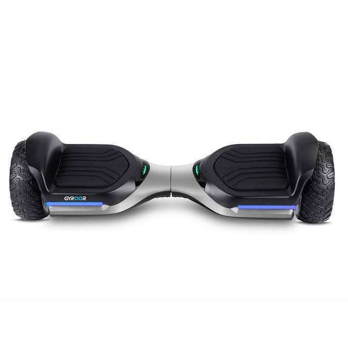 Gyroor Swift G1 Elektrikli Kaykay Off Road Hoverboard 6.5 İnch Ledli Teker Gümüş