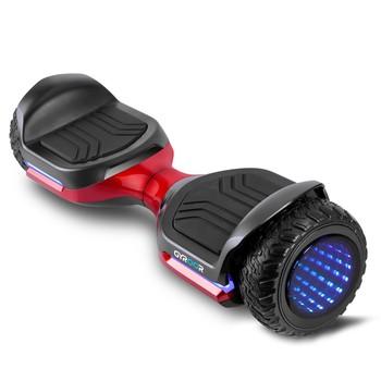 Gyroor - Gyroor Swift G1 Elektrikli Kaykay Off Road Hoverboard 6.5 İnch Ledli Teker Kırmızı