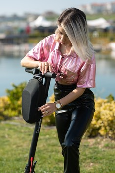 Scooter Eşya Taşıma Çantası Gidon Askılı Universal Model - Thumbnail