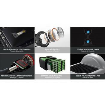 Smart Balance N3 Elektrikli Kaykay Hoverboard 6.5 inch Mor - Thumbnail