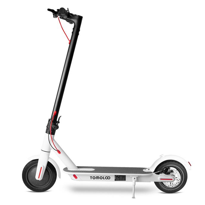 Tomolco H7 250Watt Elektrikli Scooter 8.5 inch Sisme Teker Beyaz